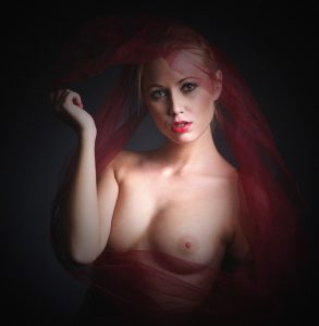 Portrait in red