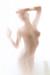 Julia Behind A Curtain